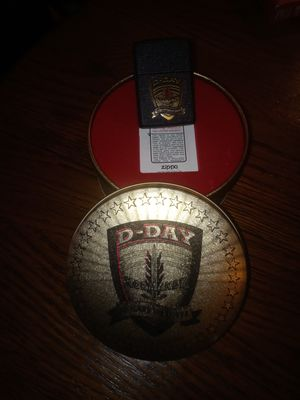 Normandy 50 Anniversary Zippo With Tin for Sale in Medina, OH