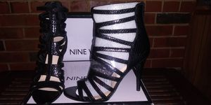 Black Cut Out Open Toe Stiletto- Size 8.5 for Sale in St. Louis, MO