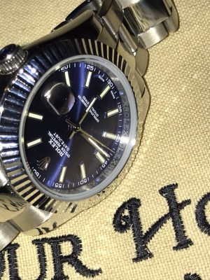Automatic watch blue dial for Sale in Saint Robert, MO