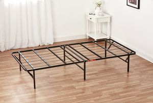 "Mainstays 14"" High Profile Foldable Steel Bed Frame, Powder-coated Steel, Twin XL for Sale in Houston, TX"