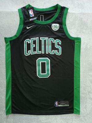 6599 Boston Celtics Jayson Tatum Black Jersey for Sale in US