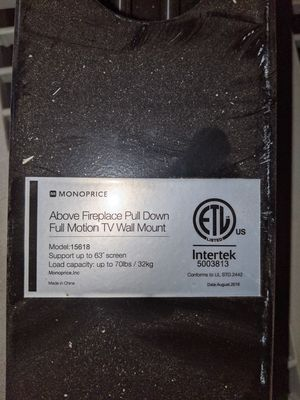 "TV full motion wall mount up to 63"" for Sale in Tustin, CA"