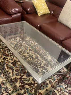 Glass And Stainless Steel Coffee Table for Sale in Queens,  NY