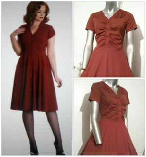 40's /50's PIN Up Style Cranberry dress for Sale in Whittier, CA