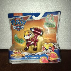 PAW Patrol, Mighty Pups Super PAWs Marshall Figure with Transforming Backpack, for Kids Aged 3 and Up for Sale in Queen Creek, AZ