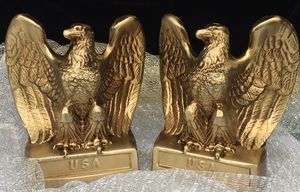 Bronze cast Eagles book end - Set of two for Sale in Chandler, AZ