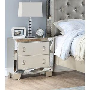 Only $50 Down! New Mirrored Nightstand. Silver. Free Delivery! for Sale in Los Angeles, CA