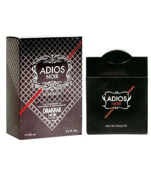 Adios Noir (3.4oz) EDT Cologne Spray For Men - New ( Plastic Sealed ) for Sale in Aspen Hill, MD