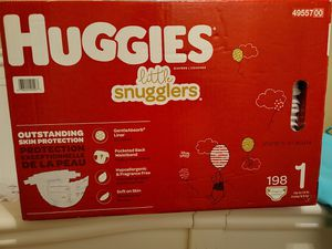 198 HUGGIES little snugglers Size 1 for Sale in Pembroke Pines, FL