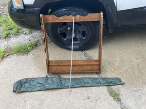 Rifle rack, case, cleaning rod for Sale in Madison, OH
