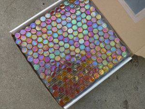 Iridescent penny glass tile for Sale in Los Angeles, CA