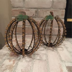 Wire Pumpkin Candle Holders Set Of 2 for Sale in Columbus, OH