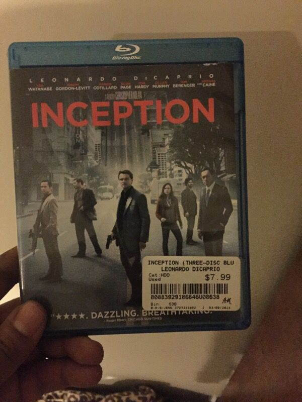 Inception blue ray