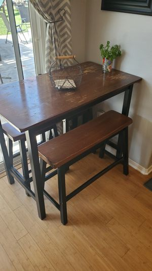 Kitchen table set with bench and 2 stools for Sale in Carlsbad, CA