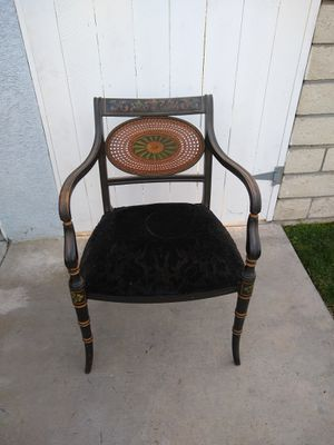 Vintage / antique Grand Ledge Chair Co. black chair for Sale in Paramount, CA
