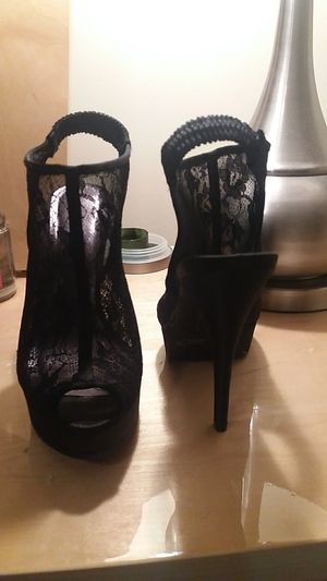 Black lace heels for Sale in Columbus, OH