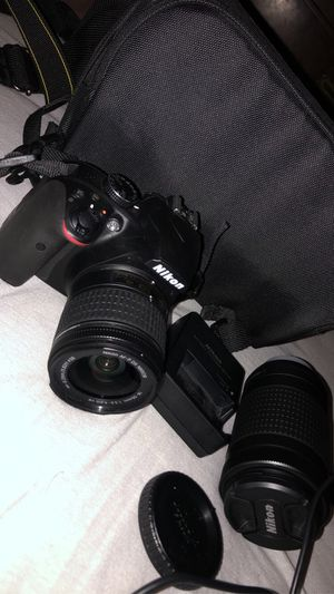 Nikon D3400 DSLR Camera kit with case and extra lenses for Sale in Chicago, IL