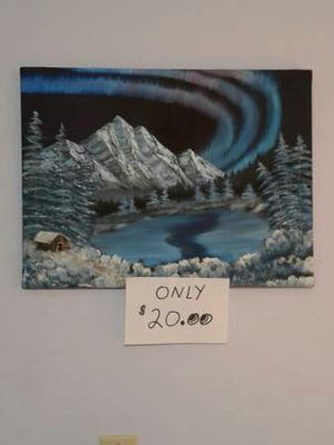 """Northern Lights"" oil painting for Sale in Austin, TX"