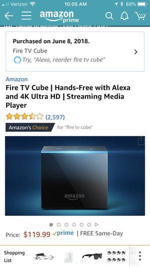 Amazon Fire TV Cube for Sale in Falls Church, VA