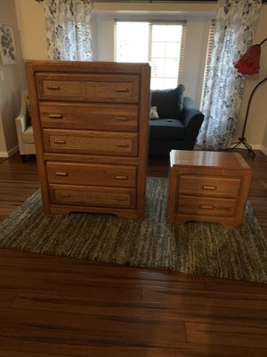 Tall Dresser and night stand for Sale in Puyallup, WA