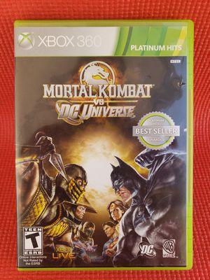 Mortal combat vs dc universe xbox 360 for Sale in Norwalk, CA