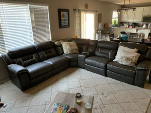 Vegan Leather sectional couch w/ recliners for Sale in Waddell, AZ