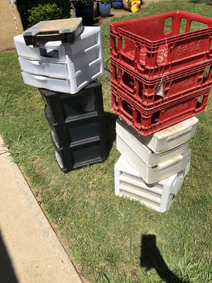 Storage organizers and Coca-Cola crates for Sale in Fresno, CA