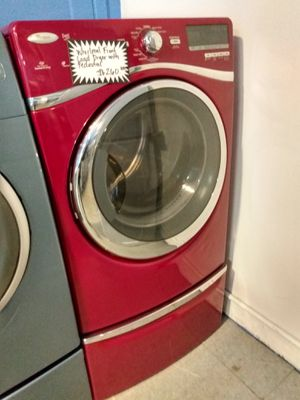 Whirlpool front load dryer with pedestal working perfectly for Sale in Baltimore, MD
