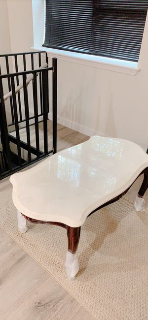 Vintage marble woody coffee table for Sale in Brooklyn, NY