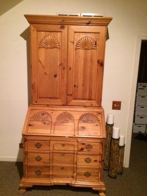 solid wood secretary/ desk / dresser for Sale in Deerfield, IL