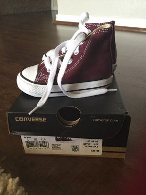 Brand New Infant Converse - Burgundy Size 4 for Sale in Ontario, CA