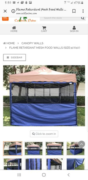 10' x 10' Canopy Walls - Mesh Walls - Outdoor Concession Stands for Sale in Harbor City, CA