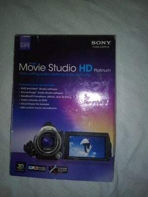 Sony Vegas platinum video editing suite for Sale in Austell, GA