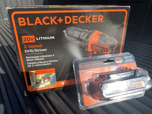 New BLACK+DECKER LDX220C 20V MAX 2-Speed Cordless Drill Driver (Includes Battery and Charger) for Sale in Miami, FL