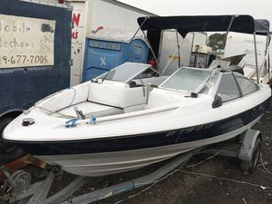 1988 18 Ft open bow bayliner boat with galvanized single axel trailer, 125 hp force 4 cyl outboard. RUNS GOOD! AS IS!. We can test it for Sale in San Diego, CA