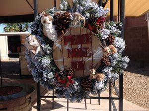 Flocked Christmas wreath for Sale in Mesa, AZ