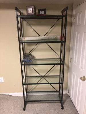 Bookcase with glass shelves for Sale in Mount Rainier, MD