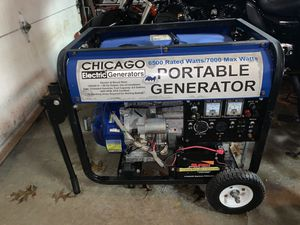 Chicago electric generator 6500 ratedwatts/ 7000 max watts portable generator for Sale in Ravenna, OH