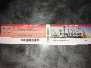 Kings Island: Opening Day 4tickets for Sale in Columbus, OH