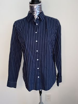 Navy Blue Striped Tommy Hilfiger Button Down for Sale in White Plains, NY