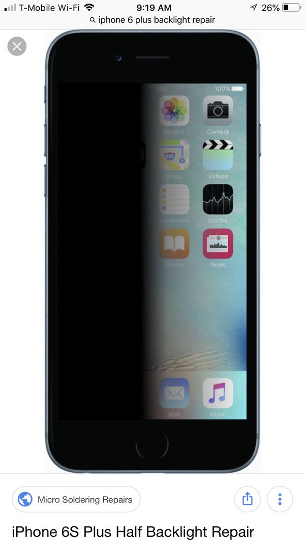 ISO: iPhone 6 Plus Backlight repair for Sale in Kyle, TX