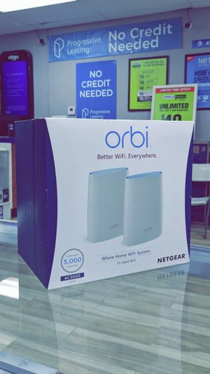 NETGEAR Orbi AC3000 Tri-Band Mesh Wi-Fi System (2-pack) - 3Gbps, Router + 1 Satellite! Brand New in Box! for Sale in Arlington, TX