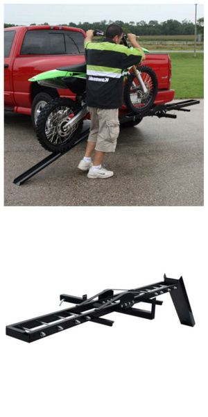 New in box hitch mount dirt bike scooter travel carrier rack with ramp 500 lbs capacity for Sale in Whittier, CA