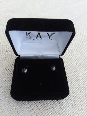I carat black diamond earrings for Sale in Shreveport, LA