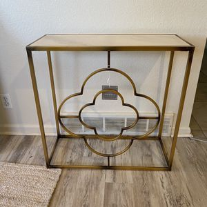 Marble Topped Gold Entry Way Table for Sale in Littleton, CO