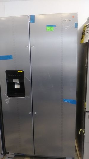 New whirlpool scratch and dent side by side refrigerator Come and take advantage of the great Monday special 5% off all appliances for Sale in Bowie, MD