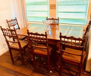 Antique English Oak Table and Chairs for Sale in Houston, TX