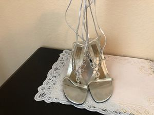 Jeweled dress Sandals with ballerina ties up leg for Sale in Port Charlotte, FL