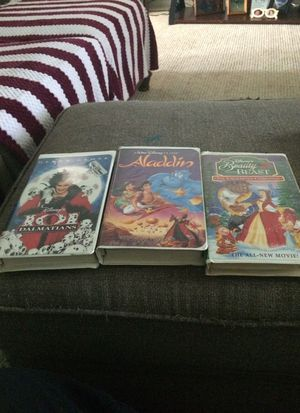 Disney vhs tapes get all 3 for Sale in Villas, NJ