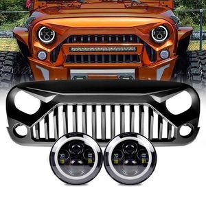 Amber Halo Headlights & Gladiator Grille for 07-17 Jeep Wrangler JK for Sale in Anaheim, CA